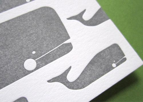 Whale Letterpress Ink + Wit