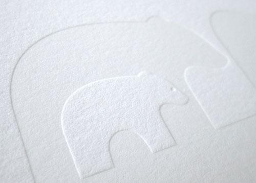Blind Deboss Bear Letterpress