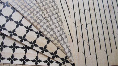 Black on Wood Pattern