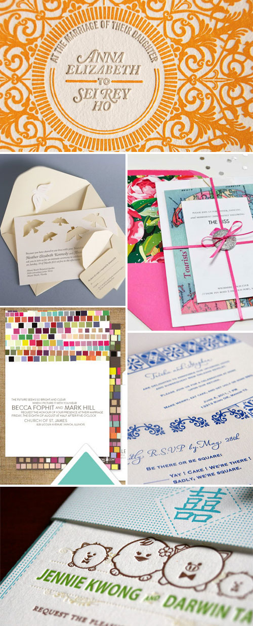 Invitation Designs Featured at Invitation Crush