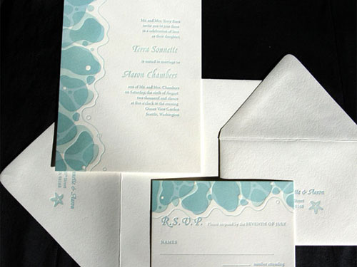 Nami Couture Affordable Letterpress Invitations