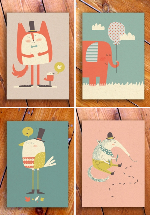 Paper and Cloth Postcards