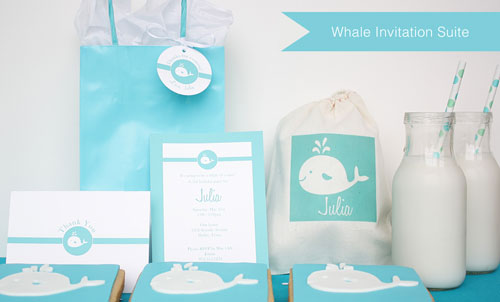 Whale Party Invitations
