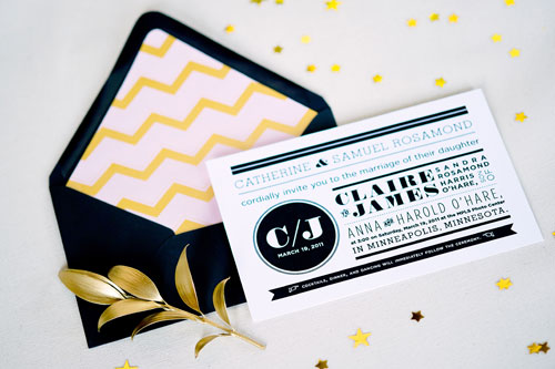 Glam Wedding Invitations