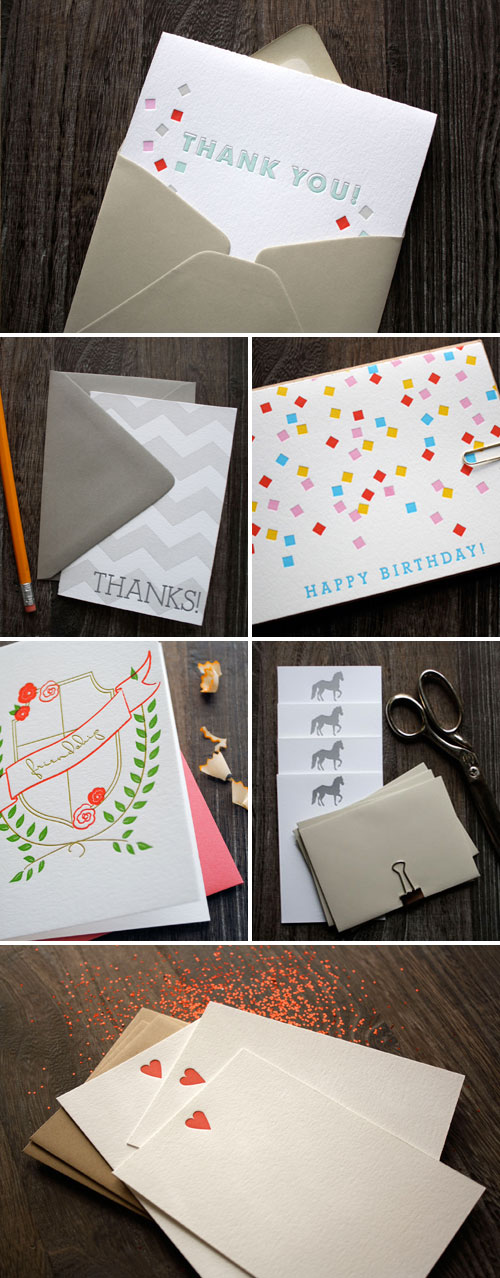 Printerette Letterpress Stationery