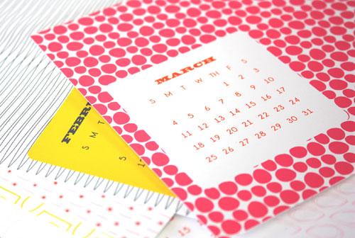 2012 Modern Pattern Calendar