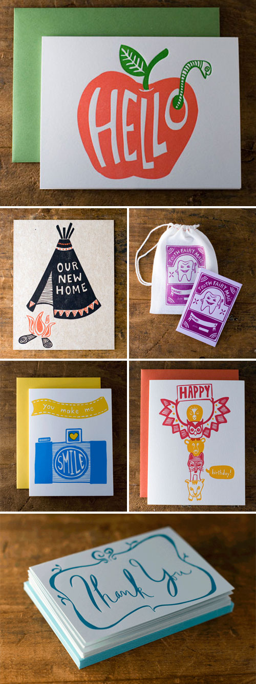 Letterpress Cards by Wildhorse Press