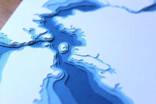 San Francisco Bay Papercut