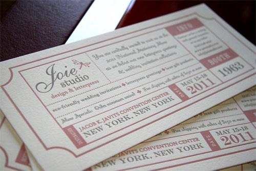 Joie Studio Letterpress Invitations