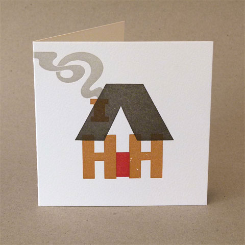 Letterpress Home Sweet Home Card