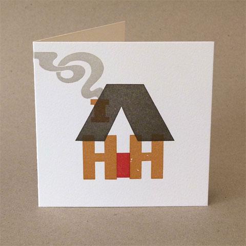 Letterpress Home Sweet Home Card