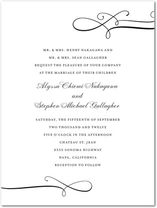 Luxe Lines Wedding Invitations