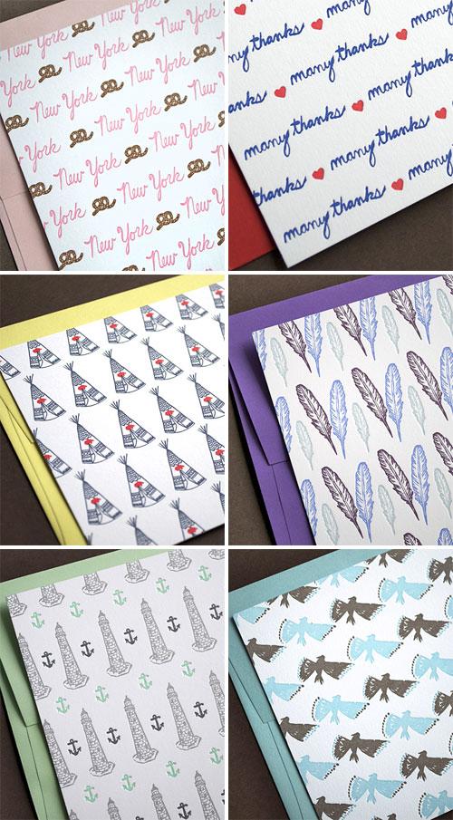 Patterned Letterpress Cards