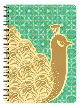 Birch Wood Peacock Journal