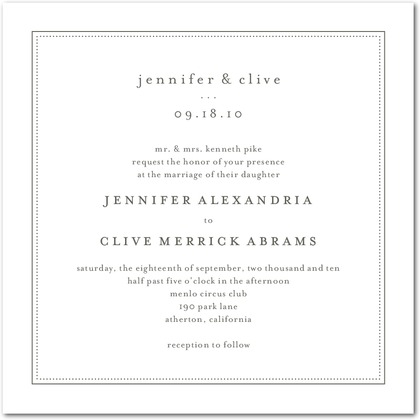 Pure Style Wedding Invitations