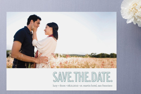 Save the Date : Three Words