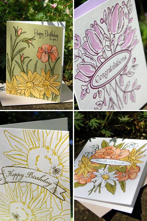 Letterpress Cards by Tilia Press