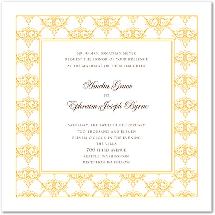 Timeless Ardor Wedding Invitations