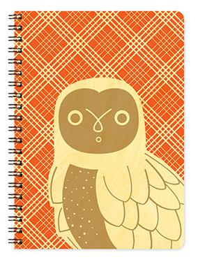 Birch Wood White Owl Journal