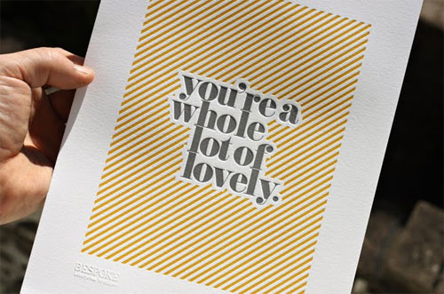 Lovely Letterpress Print