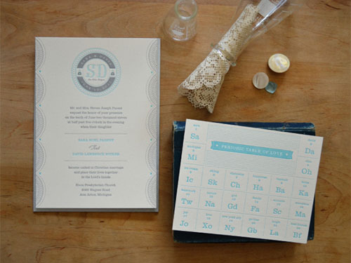 Periodic Table of Love Invitations