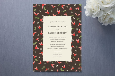 Vintage wedding invitations with a taste of folklore perfect for a more