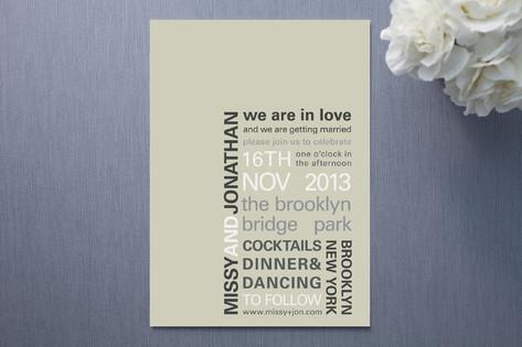 My Type Wedding Invitations