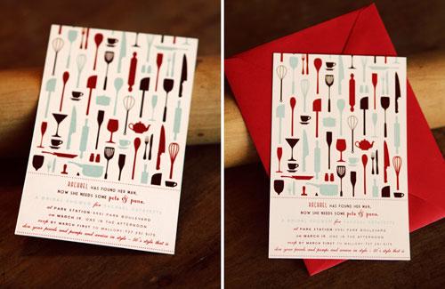 Retro Bridal Shower Invitations