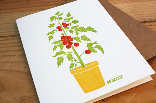 Tella Press Rooftop Tomatoes Card
