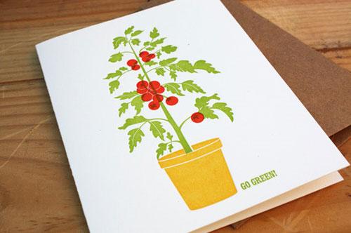 Tella Press Rooftop Tomatoes Card