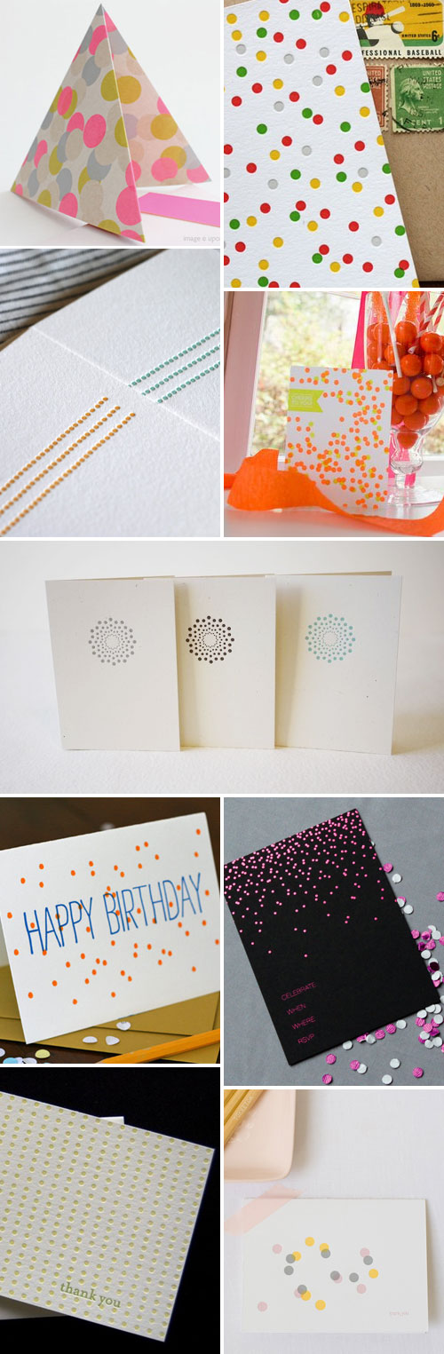 Confetti and Dots Paper Goods