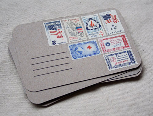 Vintage Stamp Postcards