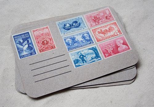 Vintage Stamp Postcard