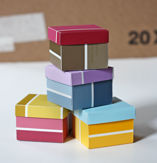 DIY Paint Chip Swatch Boxes