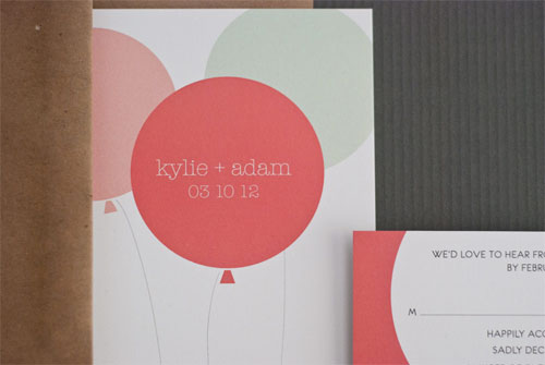 Fun, Modern Wedding Invites