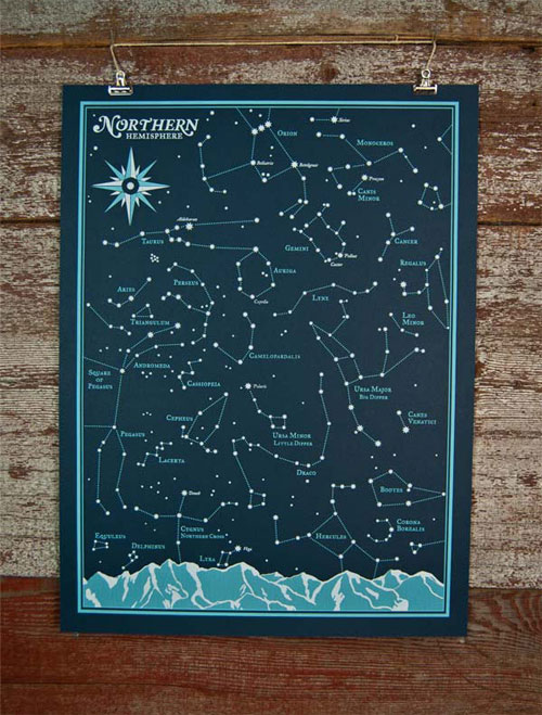 Star Chart Northern Hemisphere