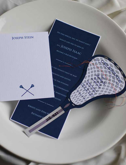 Lacrosse Bar Mitzvah Invitations