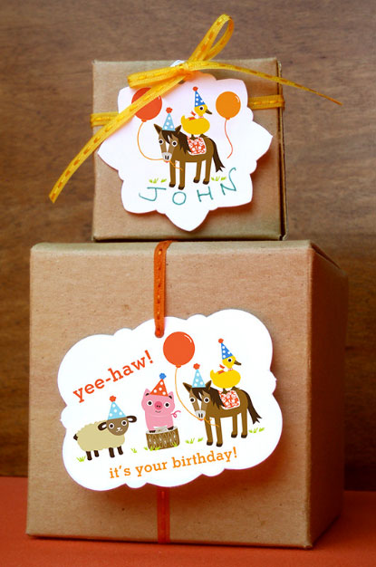 Cute Animal Party Gift Tags