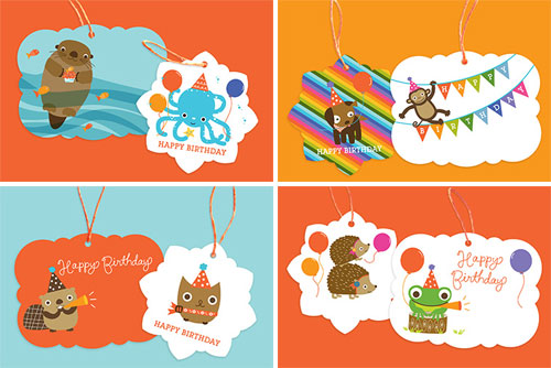 Cute Birthday Gift Tags