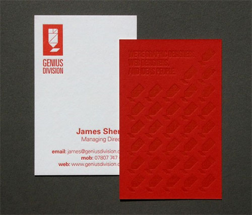 Genius Division Business Cards