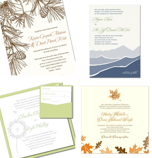 Green Kangaroo Wedding Invitations