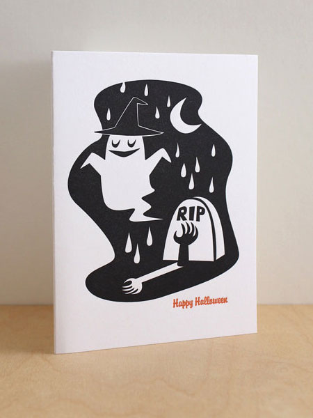 Halloween Card Letterpress
