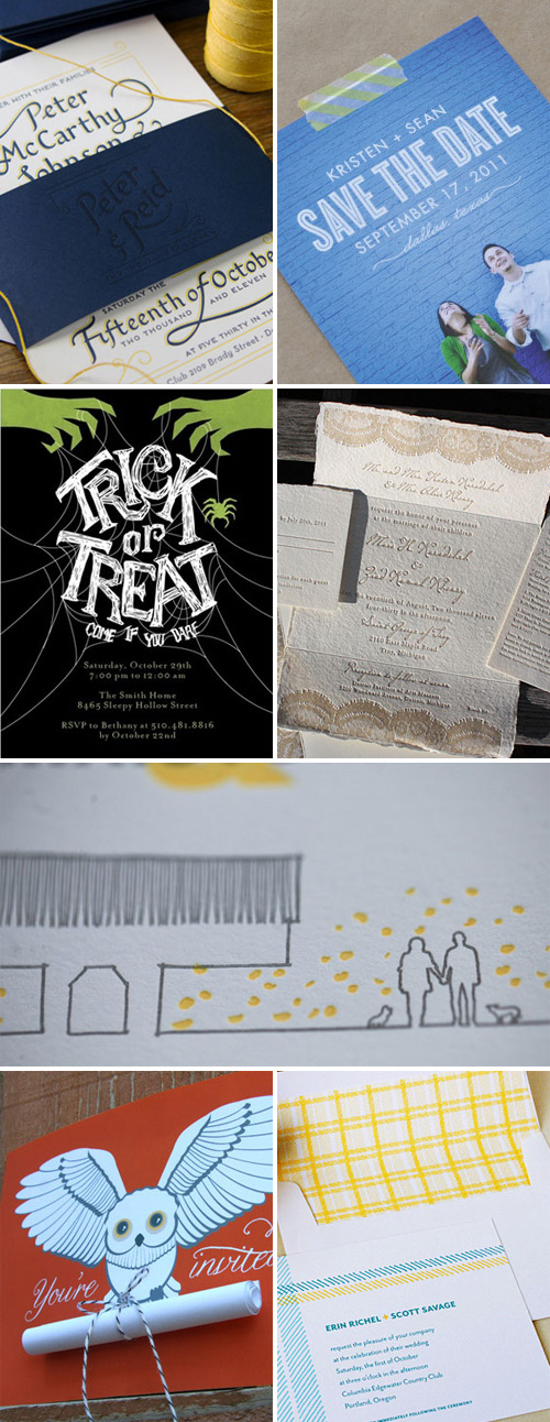 Halloween and Wedding Invitations