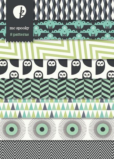MC Spooky Digital Printable Papers