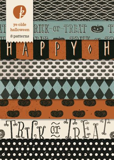 Ye Olde Halloween Digital Printable Papers