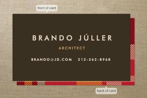 Savant Plaid Business Cards