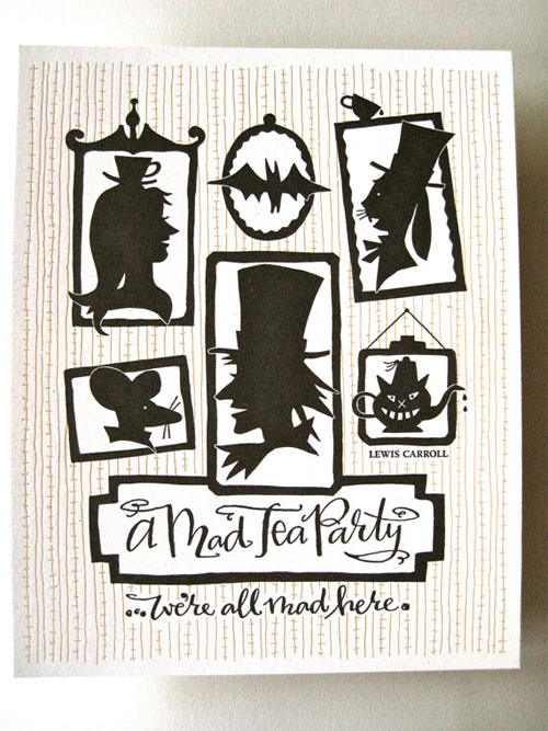 Mad Tea Party Letterpress Print