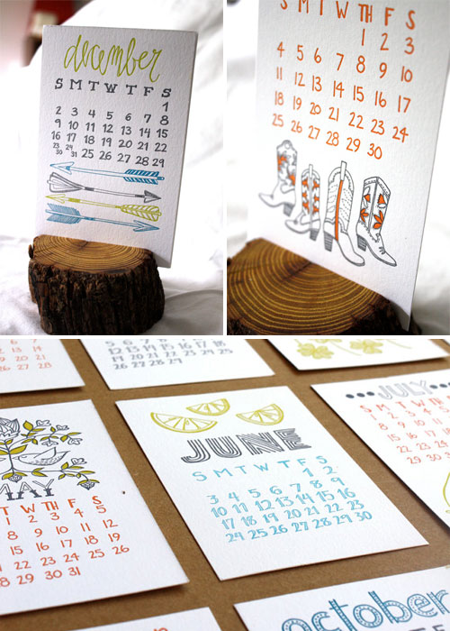 1Canoe2 2012 Letterpress Calendar