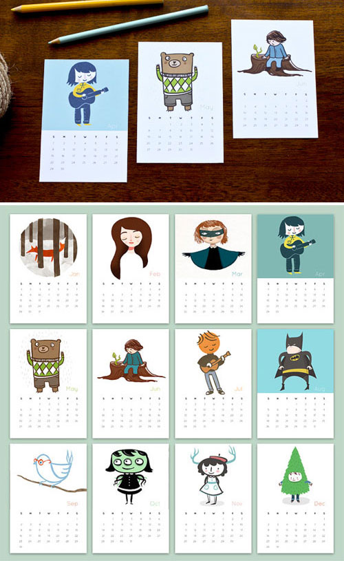 2012 Calendar Milk and Cookies