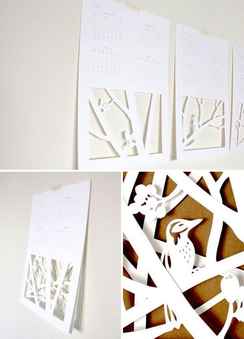 2012 Paper Cut Calendar